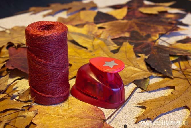 Blättergirlande basteln - Materialien