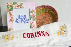 Corinnas Geburtstagsgeschenke