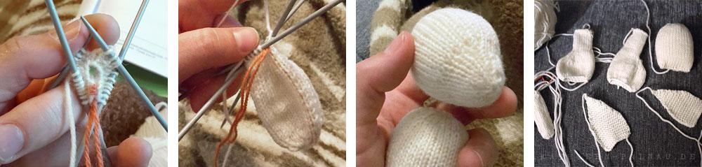 Einzelteile für das Häschen stricken