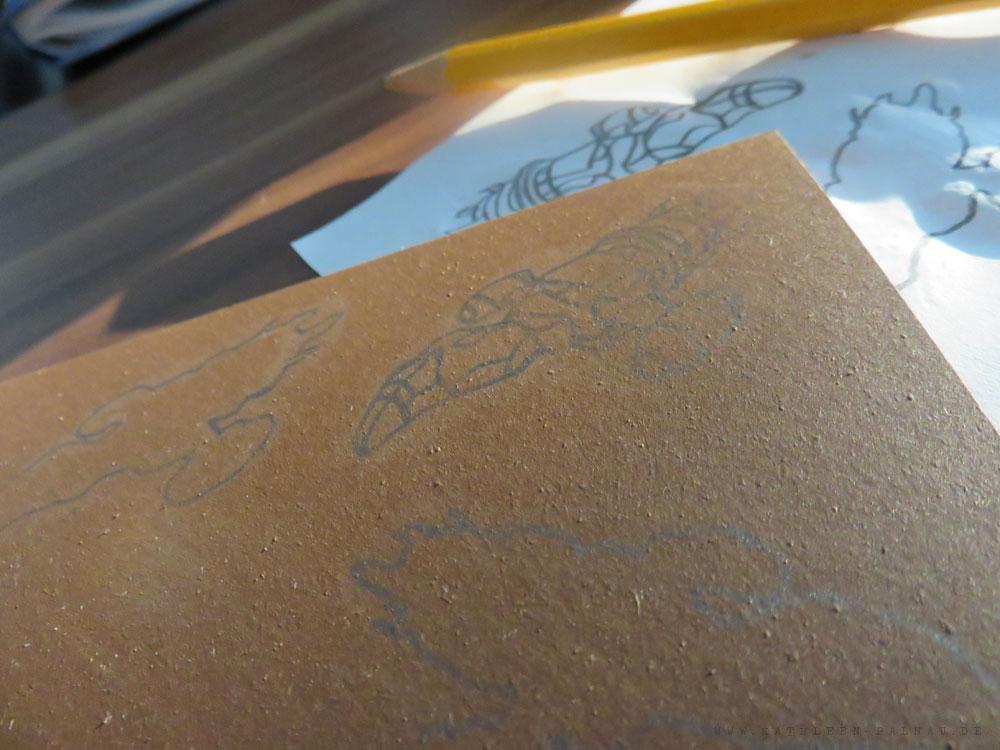 Motiv mit Bleistift vorzeichnen