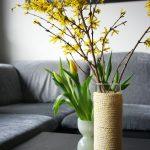 Wollige Vasenhülle für den Frühling