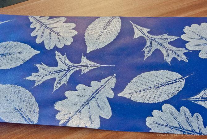 Embossing-Laternen: Fertige Blattabdrücke