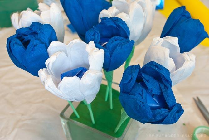 Blüten feststecken