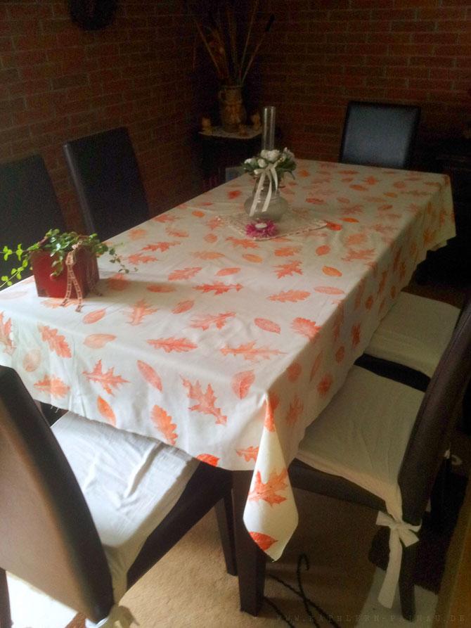 Herbstliche Tischdecke