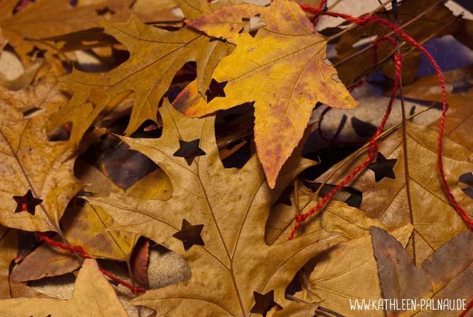 Blättergirlande basteln - Fertige Girlande