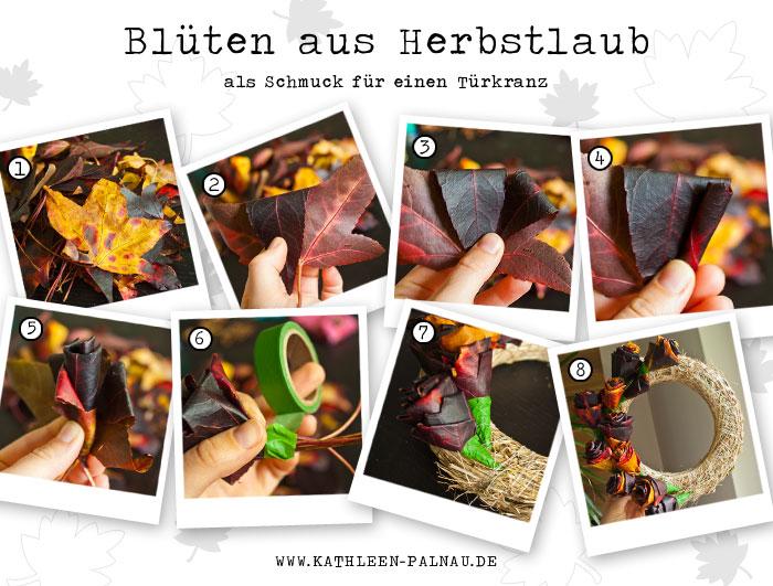 Schritt für Schritt Anleitung Herbstblüten