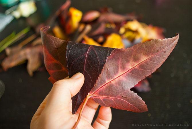 Schritt 1: Blätter einrollen