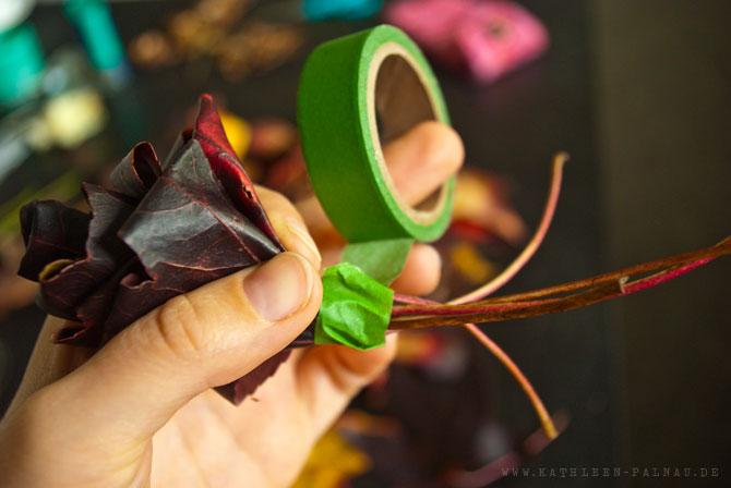 Blätter zusammenkleben