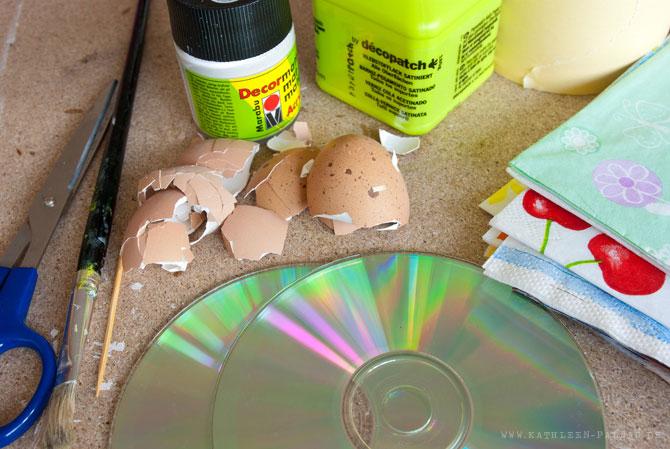 Material für das CD-Upcycling