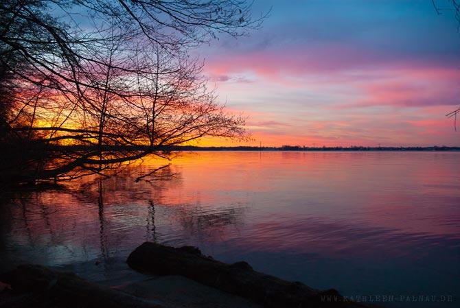 Sonnenuntergang am Müggelsee