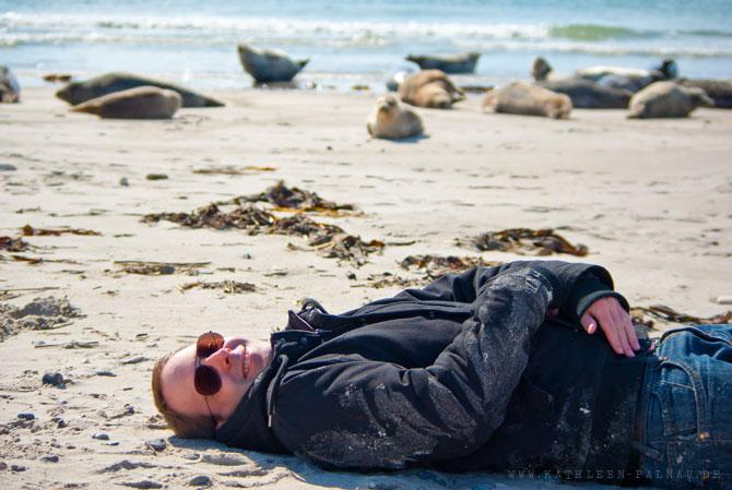 Julian bei den Seehunden