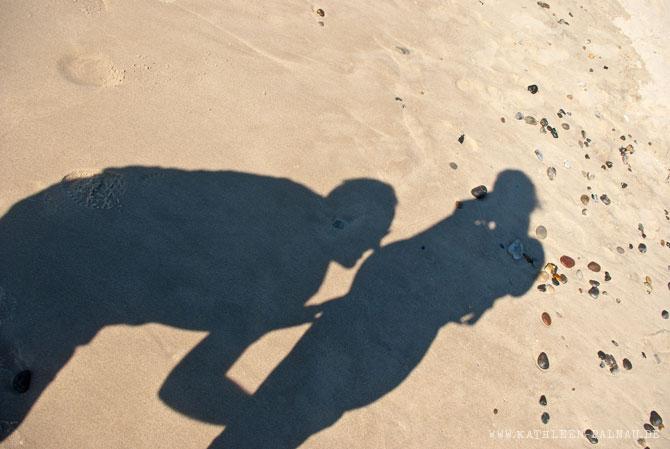 Babybauch im Schatten