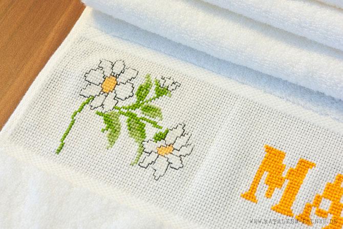Handtuch für Mutti: Margeriten-Motiv