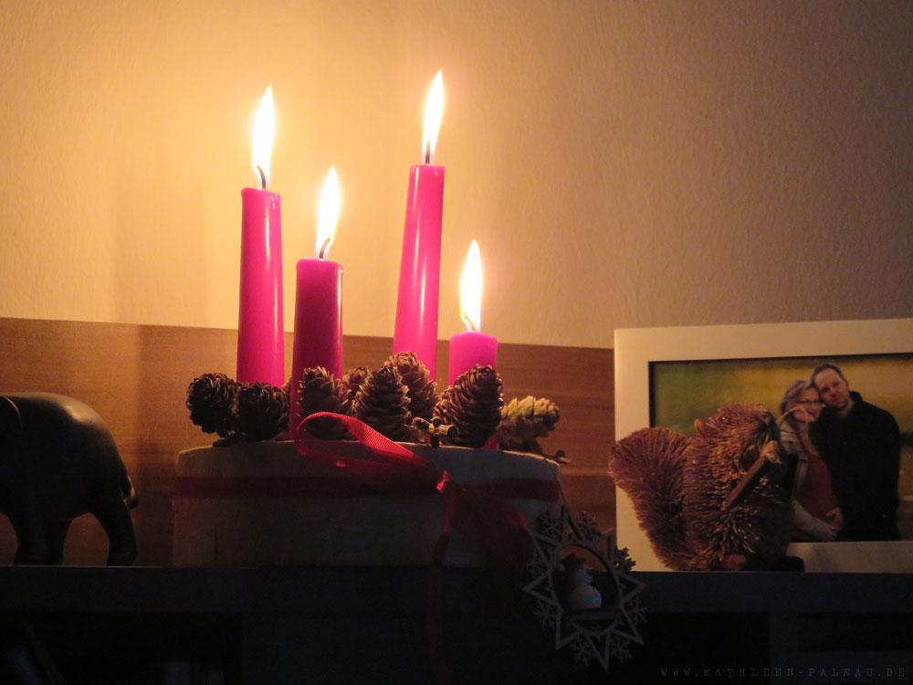 Der fertige Adventskranz