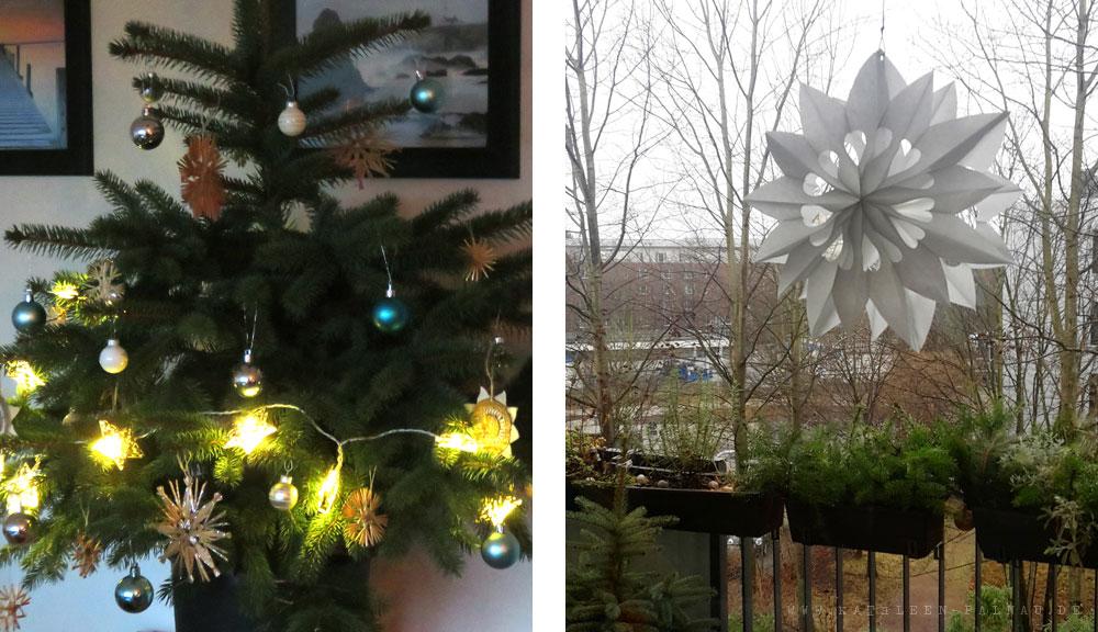 Unsere Weihnachtsdekoration zu Hause in Hamburg