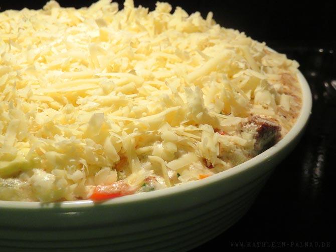 Brotauflauf - Mit Käse überbacken