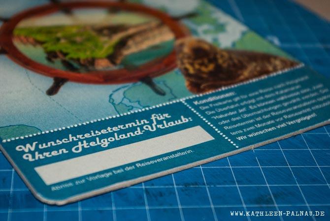 Helgoland-Karte - Abriss