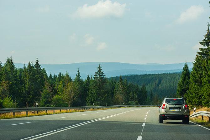 Fahrt durch den Harz