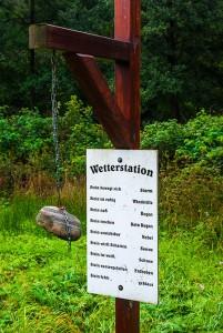 Wetterstation im Kräuterpark Altenau