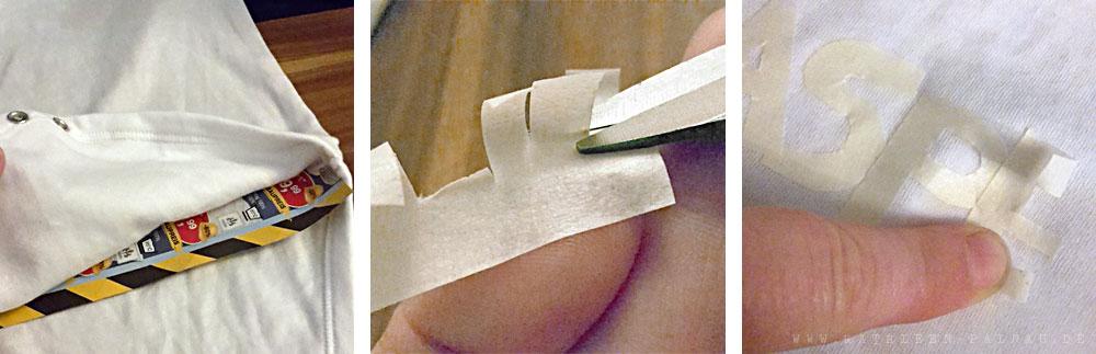 Vorbereitungen zum Textildruck