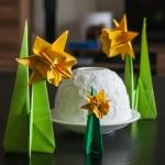 Origami-Osterglocken für die Vorfreude auf den Frühling