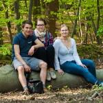 Gruppenfoto: Hannes, Corinna und ich