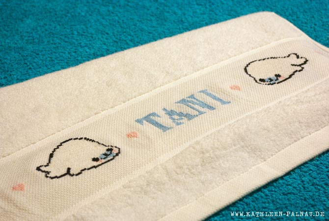 Das fertige Handtuch für Tani