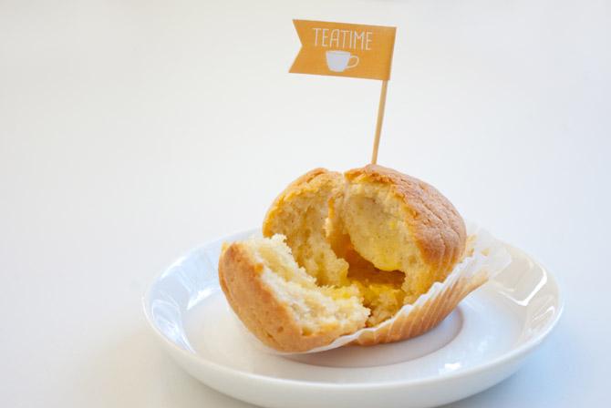 Teatime-Muffin mit Marmeladenfüllung