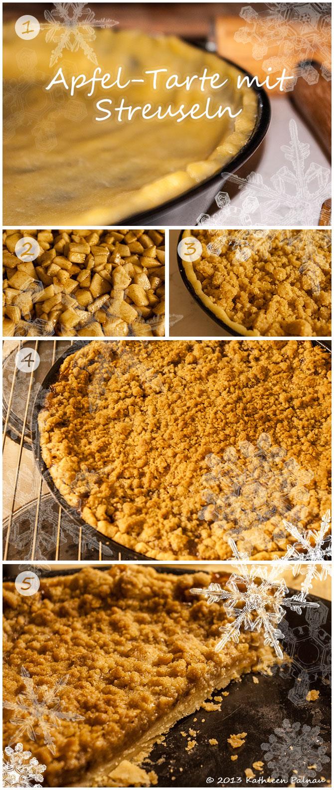 Apfel-Tarte mit Streuseln - Zubereitung