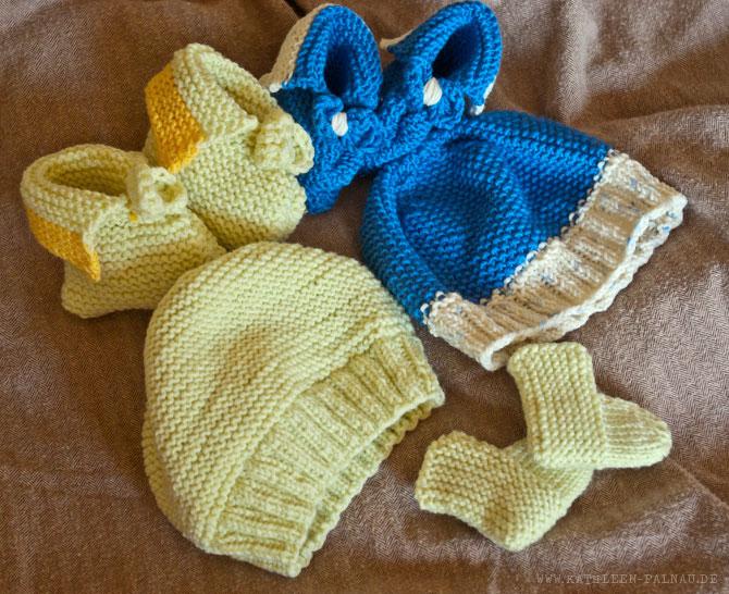 Gestrickte Babysachen