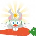 Hase mit Möhre Logo – lustiges Aushängeschild für unsere IT-Spezialisten